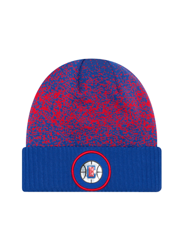 LA Clippers On Court Team Cuff Knit Hat - Royal and Red