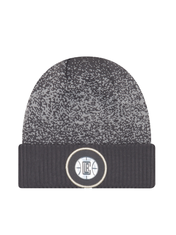 LA Clippers Youth On Court Reverse Team Pom Cuff Knit Hat