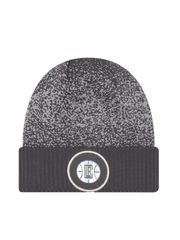 LA Clippers On Court Graphite Cuff Knit Hat