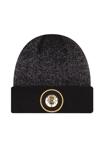 LA Clippers On Court Black and Gold Cuff Knit Hat