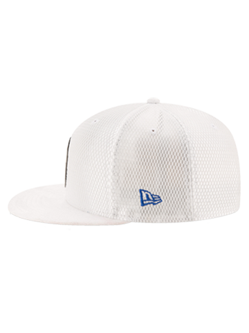 LA Clippers 2017 Draft 950 On Court Mesh Suede Snapback - White