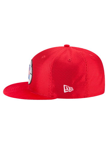 LA Clippers Youth 9FIFTY On Court Reverse Lux Mesh Faux Sued Fit Cap