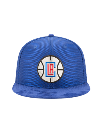 LA Clippers 2017 Draft 5950 On Court Mesh Suede Fitted Cap - Royal