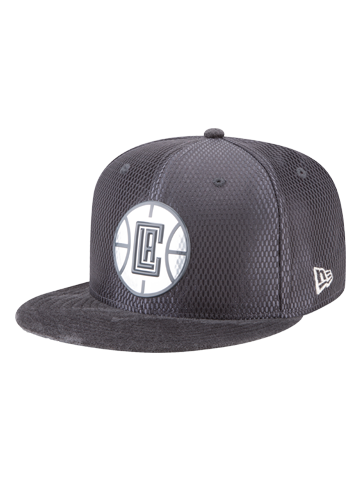 LA Clippers Youth 9FIFTY On Court Lux Mesh Faux Sued Fit Cap ... fc0b804433