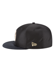 LA Clippers 59FIFTY On Court Black and Gold Lux Mesh Suede Fit Cap
