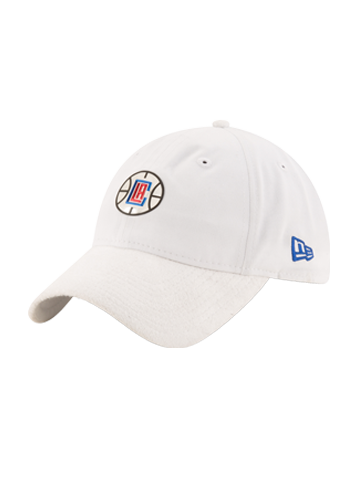 LA Clippers 2017 Draft 920 On Court Poly Suede Adjustable Cap - White