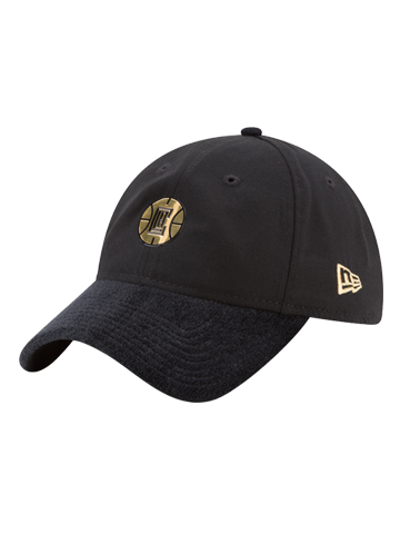 LA Clippers 9TWENTY On Court Black and Gold Slouch Adjustable Cap