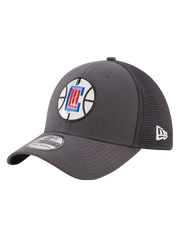LA Clippers 39THIRTY On Court Graphite Flex Fit Cap