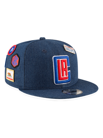 LA Clippers 2018 Draft 9FIFTY Denim Snapback Cap