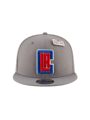 LA Clippers 2018 Draft 9FIFTY Gray Snapback Cap