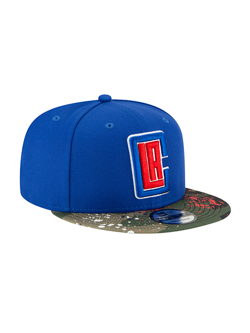 LA Clippers 9FIFTY Camo Splatter Snapback Cap