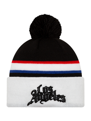 LA Clippers City Edition Pom Knit - White