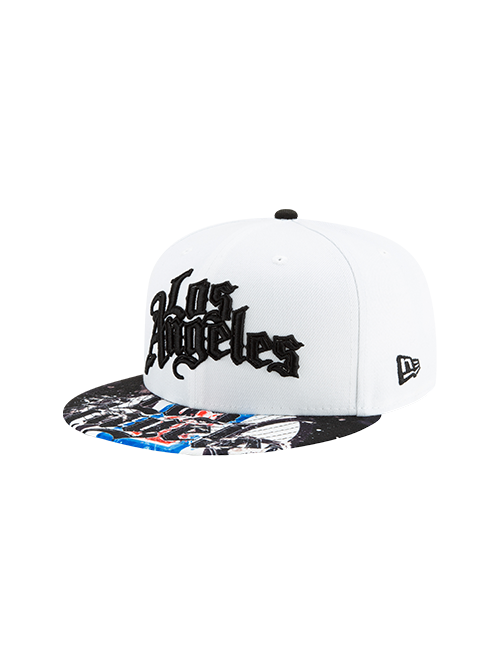 LA Clippers 9FIFTY City Edition Splatter Snapback Cap - White