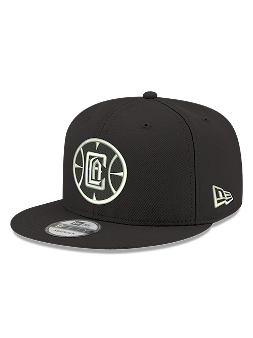 LA Clippers 9FIFTY Mister Cartoon Logo Adjustable Snapback Cap - Black