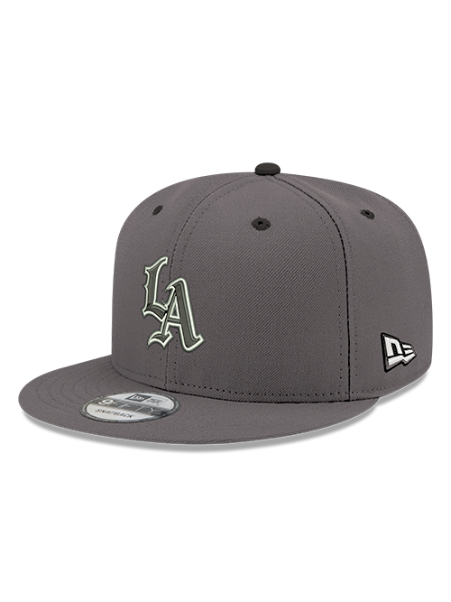 LA Clippers 9FIFTY Mister Cartoon LA Adjustable Snapback Cap - Grey