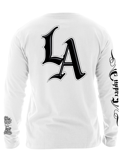 LA Clippers Mister Cartoon Sleeve Graphic Long Sleeve Tee - White