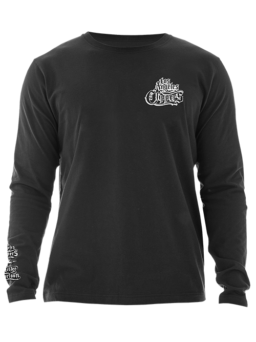 LA Clippers Mister Cartoon Los Angeles Skyline Long Sleeve Tee - Black
