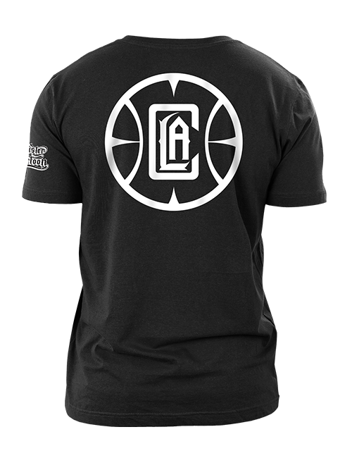 LA Clippers Mister Cartoon Team Logo Short Sleeve Tee - Black