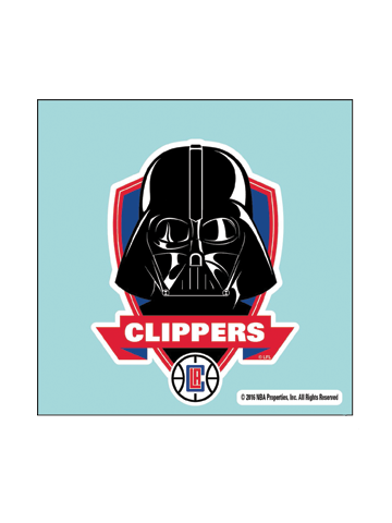 LA Clippers Star Wars Darth Vader Perf Cut Decal
