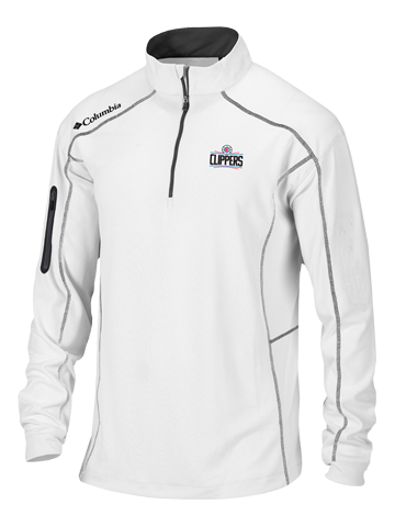 LA Clippers Shotgun White Quarter Zip Fleece