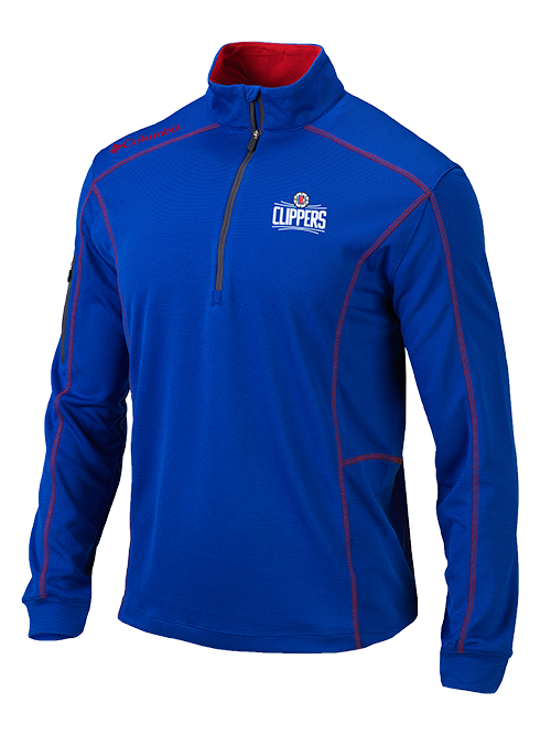 LA Clippers Shotgun Quarter Zip - Royal/Red