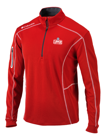 LA Clippers Shotgun Red Quarter Zip Fleece