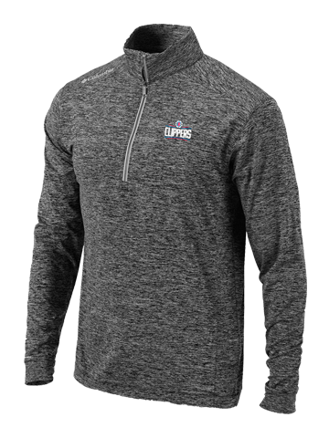 LA Clippers Power Fade Black Half Zip Fleece