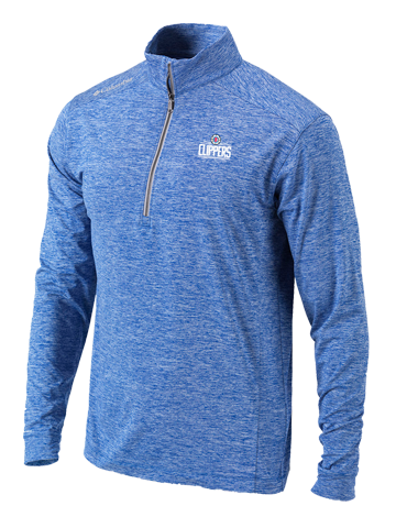 LA Clippers Power Fade Blue Half Zip Fleece