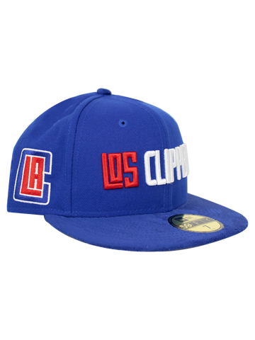 hot sales af055 f337c LA Clippers 59FIFTY Team Front Fitted Cap
