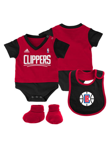 LA Clippers Newborn Lil Jersey Creeper Bib & Bootie Set