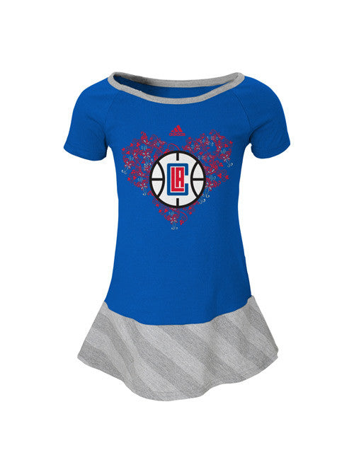 LA Clippers Kids Girls Fancie Drop Waist Dress