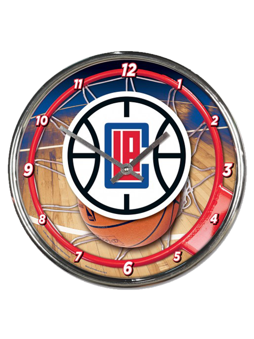 LA Clippers Chrome Clock