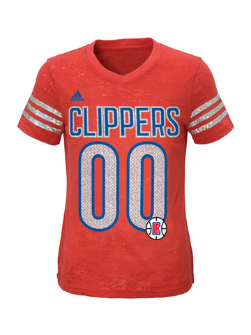 Los Angeles Clippers Youth Girls Burnout T-Shirt