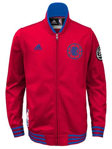 LA Clippers Authentic Home On Court Full Zip Jacket