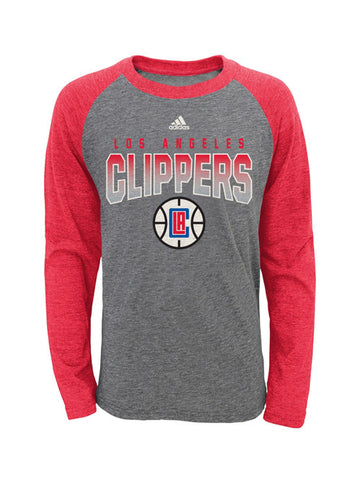 LA Clippers Youth Team Pride Long Sleeve Raglan