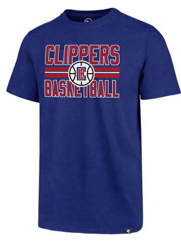 LA Clippers Block Strip Club T-Shirt - Royal