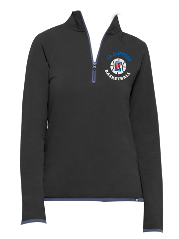 Los Angeles Clippers Womens Pep Squad Quarter Zip Jacket