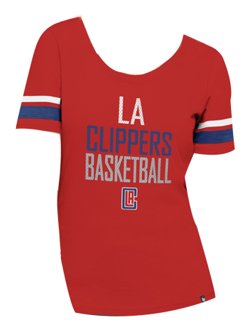Los Angeles Clippers Flanker Backer Short Sleeve T-Shirt