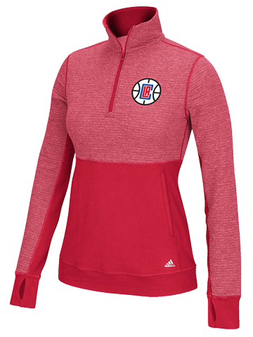 LA Clippers Women's Preferred Logo Quarter Zip Jacket