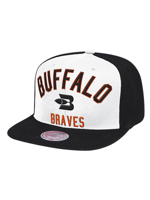 LA Clippers Classic Edition Buffalo Braves Team Color Arched Snapback Cap - White/Black