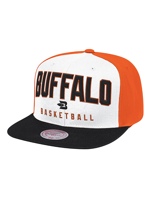 LA Clippers Classic Edition Buffalo Braves Main Read Snapback Cap - White/Orange