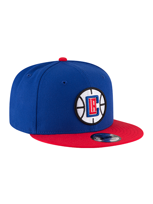 Clippers 9FIFTY 2-Tone Pri Logo Snapback Cap - Royal/Red