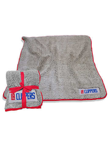 LA Clippers Frosty Fleece Sherpa Blanket