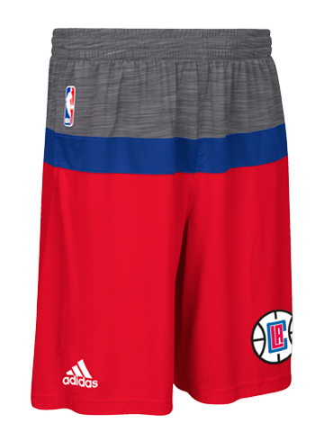 LA Clippers Authentic Pre Game Shorts