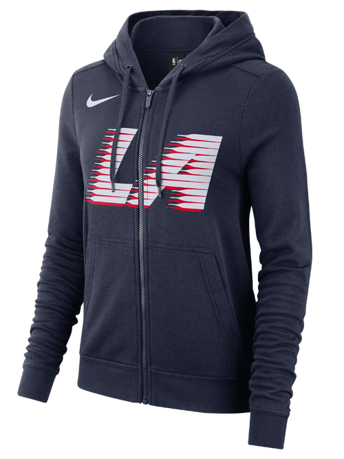 LA Clippers City Edition Women's Full Zip Wordmark Hoodie