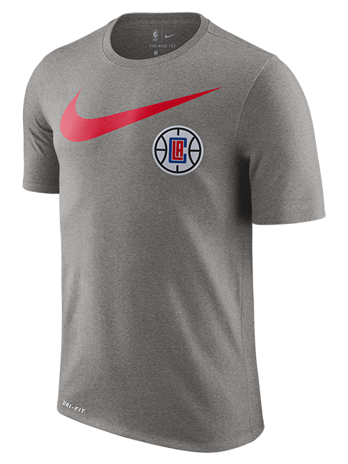 La Clippers Swoosh Logo T-Shirt - Gray