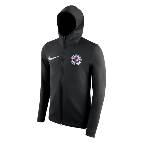 LA Clippers Therma Flex Showtime HD Full Zip Jacket - Black