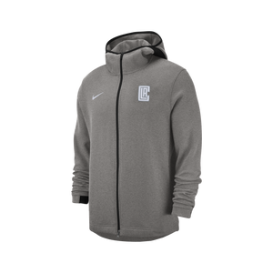 LA Clippers Dry Showtime Full Zip Hoodie - Heather Grey