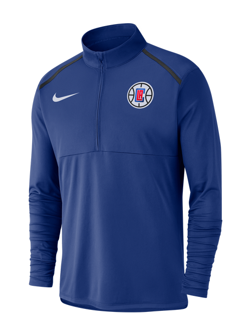 LA Clippers Element Dry Top Half Zip - Rush Blue