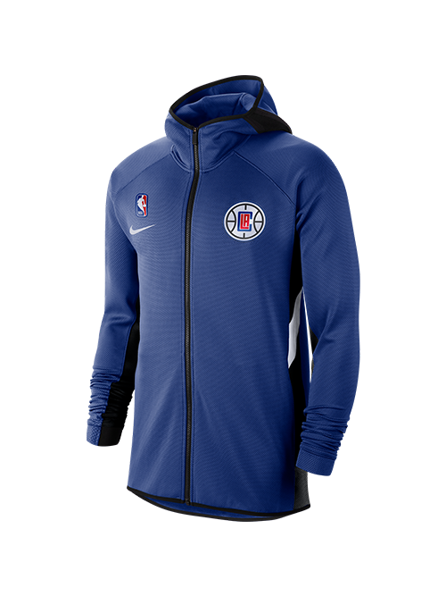 LA Clippers Thermaflex Showtime Hooded Full Zip Jacket - Royal